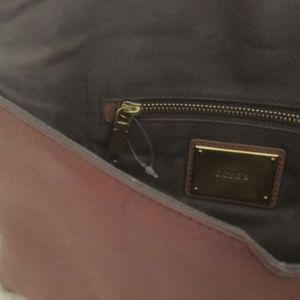 J. Crew Bags - J. CREW LEATHER STATIONARY CLUTCH - NWOT